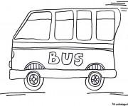 Coloriage Bus Enfant 6