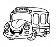 Coloriage Bus Enfant 8