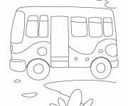 Coloriage Bus Enfant au crayon