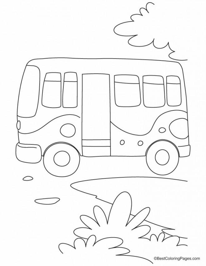 Coloriage et dessins gratuits Bus Enfant au crayon à imprimer