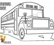 Coloriage et dessins gratuit Bus Enfant classique à imprimer