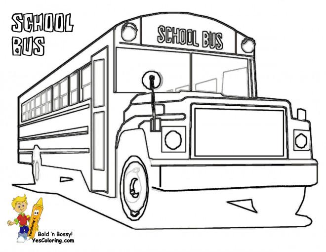 Coloriage et dessins gratuits Bus Enfant classique à imprimer