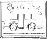 Coloriage et dessins gratuit Bus Enfant et L'alphabet à imprimer