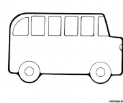 Coloriage Bus Enfant facile