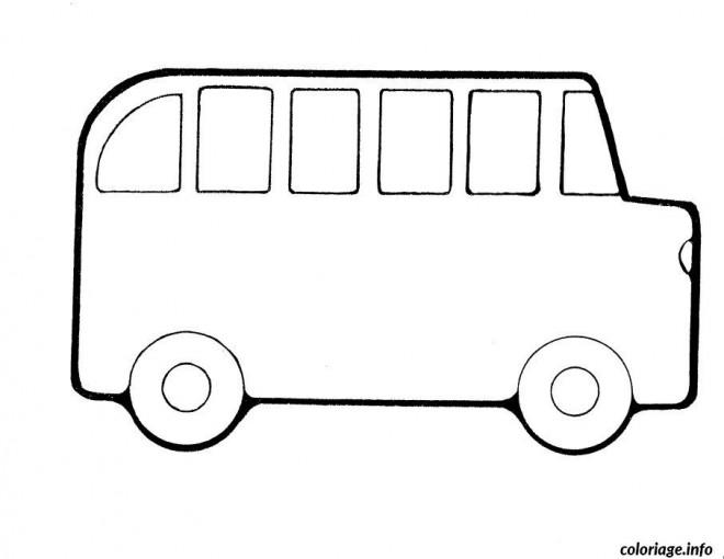 Coloriage Bus Enfant Facile Dessin Gratuit à Imprimer