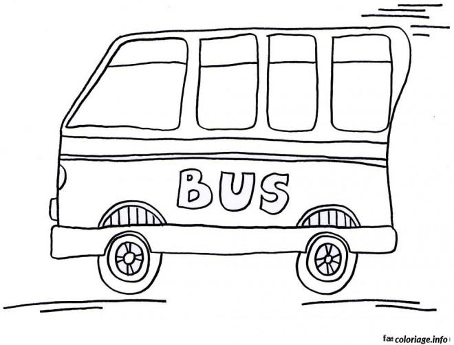 Coloriage et dessins gratuits Bus Enfant rapide à imprimer