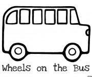 Coloriage et dessins gratuit Bus Enfant vecteur à imprimer