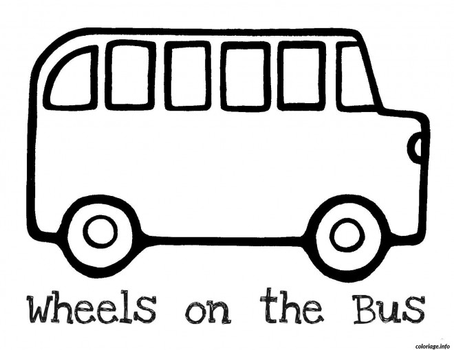 Coloriage et dessins gratuits Bus Enfant vecteur à imprimer