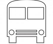 Coloriage et dessins gratuit Bus Enfant vue de face à imprimer