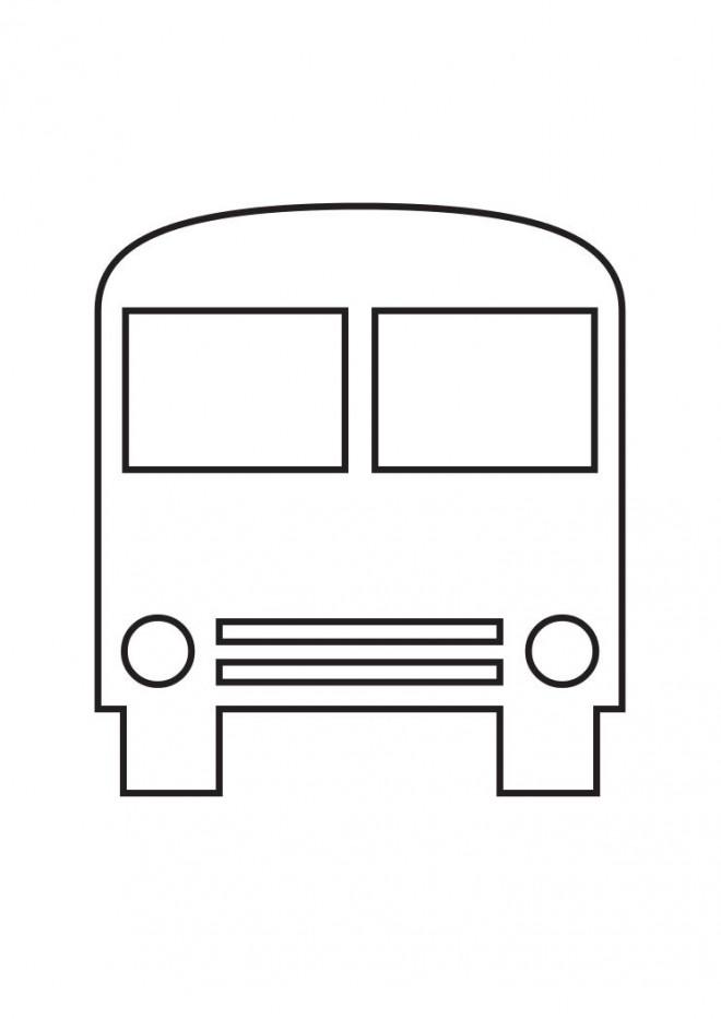 Coloriage et dessins gratuits Bus Enfant vue de face à imprimer