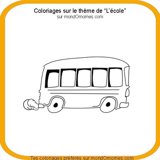 Coloriage Theme Ecole.Coloriage Bus Et Le Theme De L Ecole