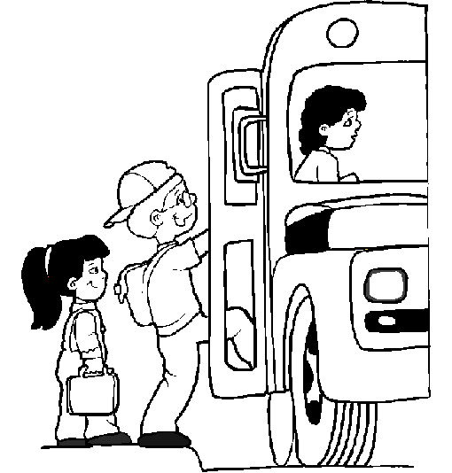 Coloriage et dessins gratuits Bus et ramassage scolaire à imprimer
