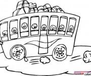 Coloriage et dessins gratuit Bus pour enfant à colorier à imprimer
