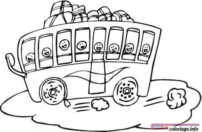 Coloriage et dessins gratuits Bus pour enfant à colorier à imprimer