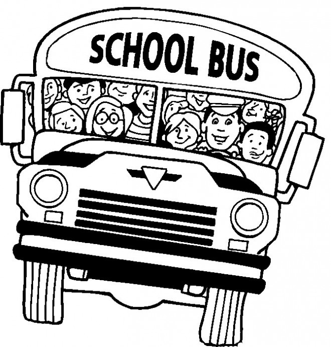 Coloriage et dessins gratuits Bus ramassage scolaire pour enfant à imprimer
