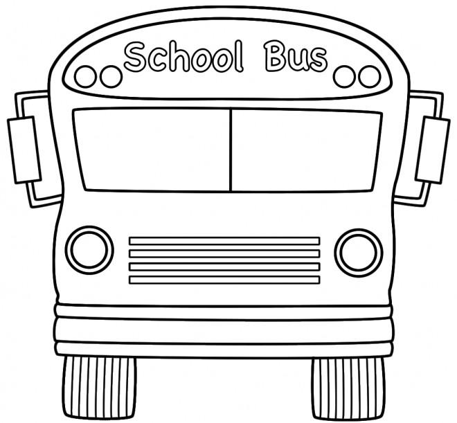 Coloriage et dessins gratuits Bus scolaire à décorer à imprimer