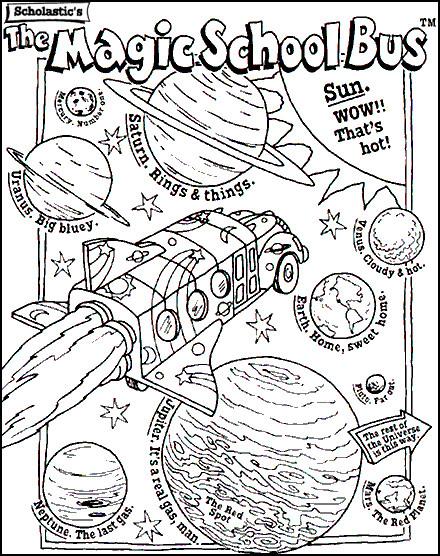 Coloriage et dessins gratuits Bus scolaire magique à imprimer