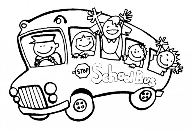 Coloriage et dessins gratuits Bus scolaire maternelle à imprimer