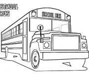 Coloriage et dessins gratuit Bus scolaire pour Enfant à imprimer