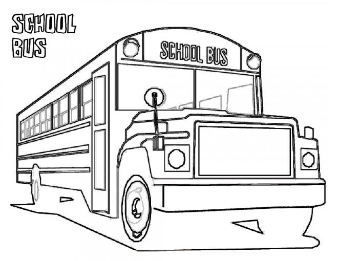 Coloriage et dessins gratuits Bus scolaire pour Enfant à imprimer