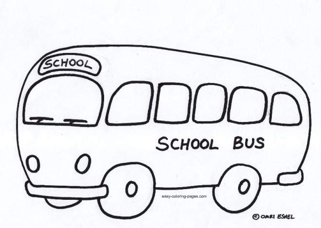 Coloriage et dessins gratuits Bus scolaire pour garçons et filles à imprimer