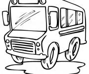 Coloriage et dessins gratuit Un Autobus dessiné pour les petits à imprimer