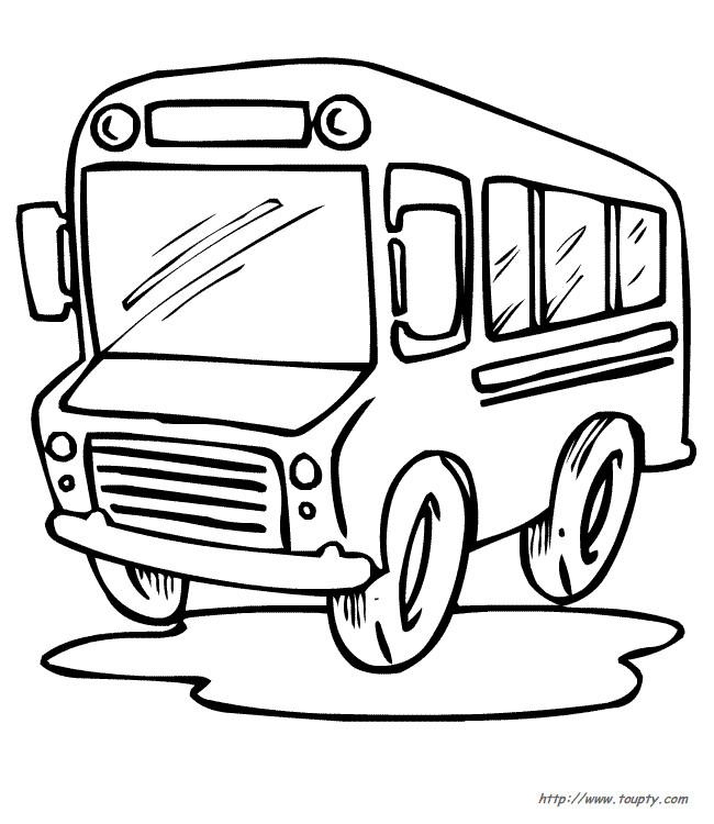 Coloriage et dessins gratuits Un Autobus dessiné pour les petits à imprimer