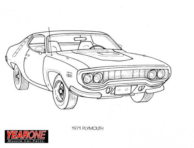 Coloriage et dessins gratuits Ancien Chevrolet Camaro à imprimer