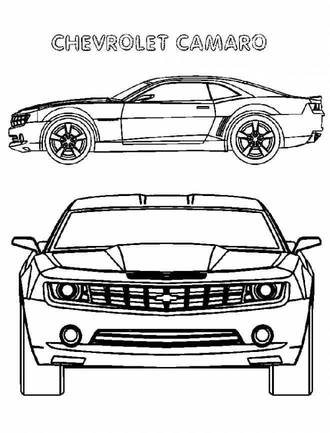 Coloriage et dessins gratuits Automobile Camaro nouvelle génération à imprimer