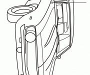 Coloriage Automobile Chevrolet Camaro modèle Z28