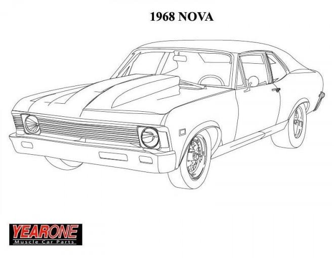 Coloriage et dessins gratuits Camaro 1968 Nova à imprimer