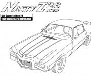 Coloriage et dessins gratuit Camaro 1971 à imprimer