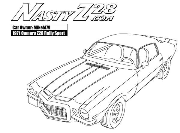 Coloriage et dessins gratuits Camaro 1971 à imprimer