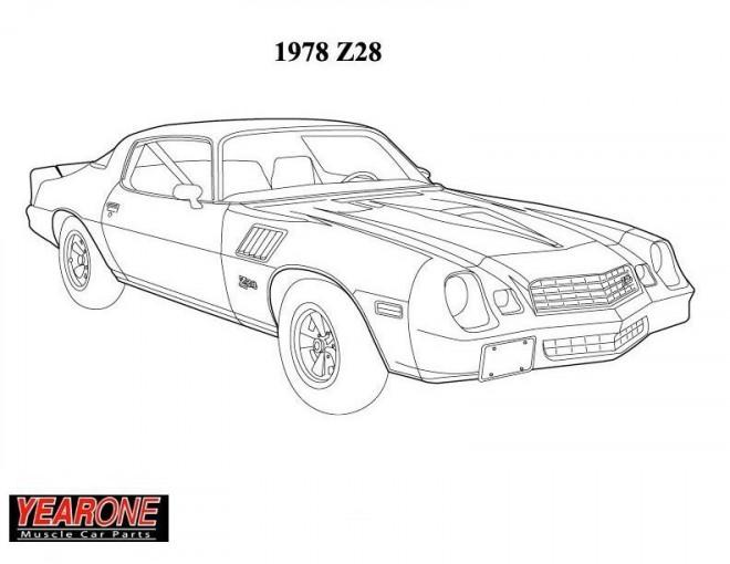 Coloriage et dessins gratuits Camaro 1978 Z28 classique à imprimer