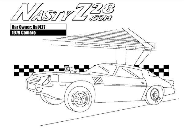 Coloriage et dessins gratuits Camaro 1979 rapide à imprimer