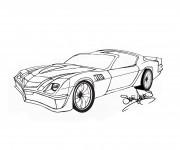 Coloriage et dessins gratuit Camaro artistique à imprimer