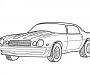 Coloriage et dessins gratuit Camaro classique à imprimer