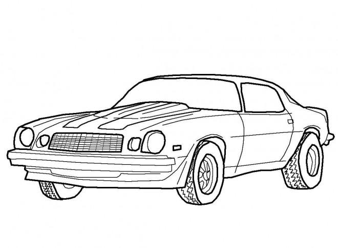Coloriage et dessins gratuits Camaro classique à imprimer