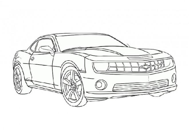 Coloriage et dessins gratuits Camaro facile à imprimer