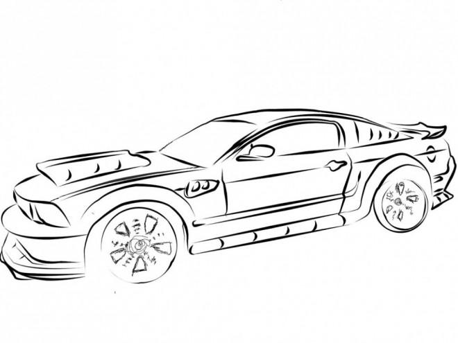 Coloriage et dessins gratuits Camaro fantastique à imprimer