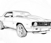 Coloriage et dessins gratuit Camaro modèle 1969 à imprimer