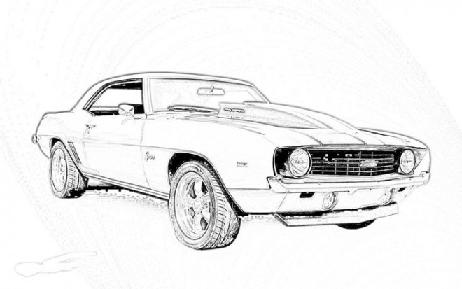 coloriage camaro mod u00e8le 1969 dessin gratuit  u00e0 imprimer