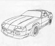 Coloriage et dessins gratuit Camaro modèle 1975 à imprimer