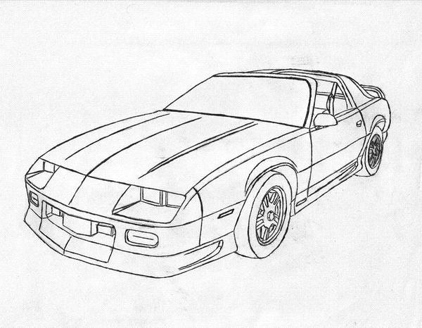 Coloriage et dessins gratuits Camaro modèle 1975 à imprimer