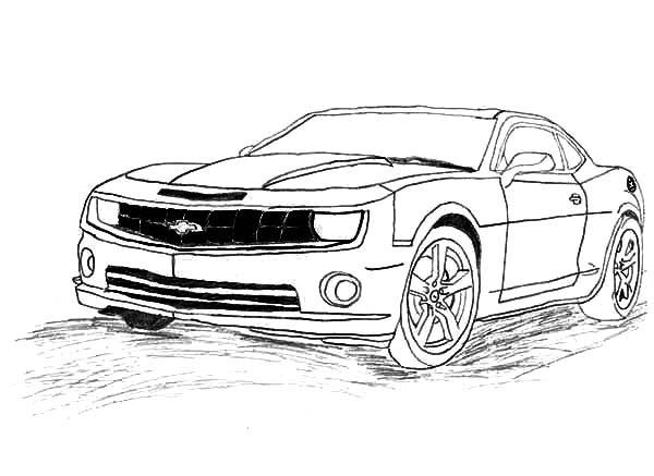 Coloriage et dessins gratuits Camaro modèle 2010 à imprimer