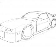 Coloriage et dessins gratuit Camaro stylisé à décorer à imprimer