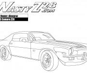 Coloriage et dessins gratuit Camaro Z28 modèle 1973 à imprimer