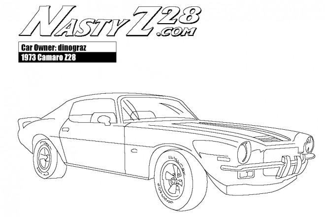 coloriage camaro z28 mod u00e8le 1973 dessin gratuit  u00e0 imprimer