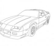 Coloriage et dessins gratuit Camaro Z28 puissante à imprimer
