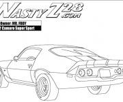 Coloriage et dessins gratuit Camaro Z28 super sport à imprimer